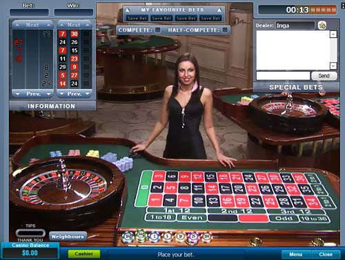 Live Roulette William Hill